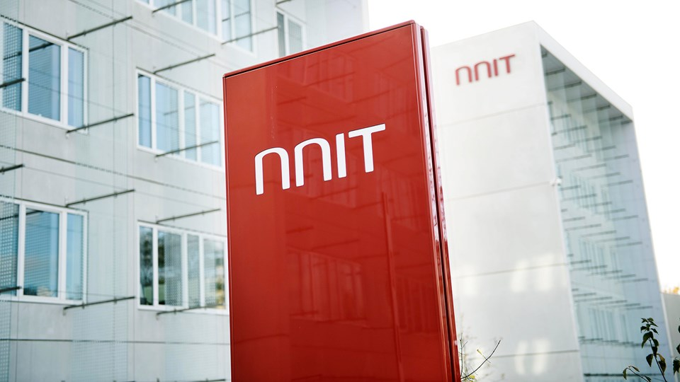 NNIT Headquarters building sign